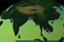 Asia as a Digital Earth simulation.
