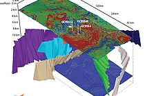 Visualization of the model Dr. Burwicz-Galerne used to simulate the development of the gas hydrate deposits in the Green Canyon. Graphic: Ewa Burwicz-Galerne