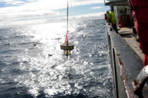 Recovery of a sediment trap in the North Atlantic. Photo: Chris Marsay, NOC.