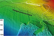 Bathymetric map of the Nyegga region off the coast of Central Norway. Graphic: Jens Karstens / GEOMAR