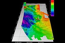 Map of the Hatiba Deep in the Red Sea, based on data from the multi beam echo sounder of RV POSEIDON.