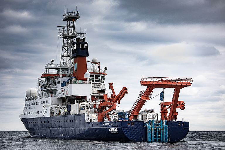 Research vessel METEOR. Photo: Michael Beims.