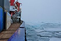 RV PLOARSTERN and iced sea