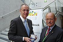 Dr. Lothar Stramma with award presenter Dr. Hein Dieter Behr. Photo: private